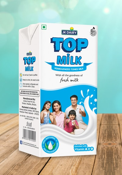 JK Dairy Top Milk Homogenized Toned Milk